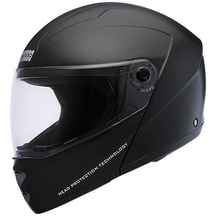 a3f96deb Studds Ninja Elite Flip Up Trendy Helmet for Men and Women (XL - 59 - 60  Cms,Black, Mirror Visor): Amazon.in: Car & Motorbike