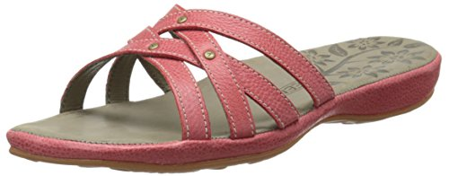 Keen City of Palms Slide Piel Sandalia Ribbon Red