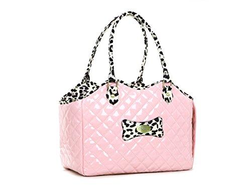 Zoostar Pink Fashion Pet Dog Cat Handbag Purse Airline Outdoor Carrier Travel Hiking Bag