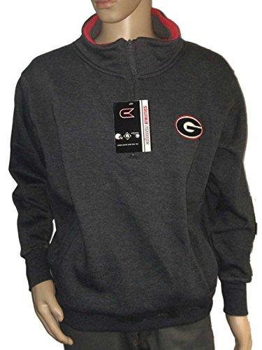 Georgia BulldogsコロシアムチャコールグレーLong Sleeve 1 / 4 Zipプルオーバージャケット( L )
