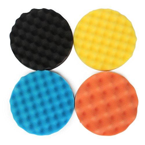 Price comparison product image 4pcs 7 Inch / 180mm Waffle Polishing Buffing Pad Waxing Sponge Polishing for Rotar