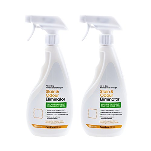 Furniture Clinic Urine Remover (2 Pack) | Stain & Odor Eliminator for Dogs, Cats, Pets & and Human Urine Removal | Enzyme Activated Urine Spray | Get Urine Off Carpets, Mattresses and Other Surfaces