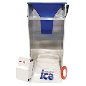 Scotsman BGS10 Ice Bagger hooks over any ice bin opening aluminum