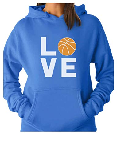 Love Basketball - Gift Idea for Basketball Fans/Player Cool Women Hoodie Small California Blue