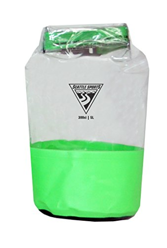 (Seattle Sports Glacier Clear Heavy Duty Waterproof Dry Bag - USA Made (XS 5L, Lime))