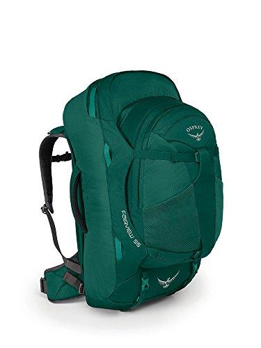 Osprey Packs Fairview 55 Travel Backpack, Rainforest Green, Small/Medium