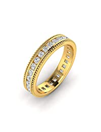 0.18 Carat Full Eternity Channel Set Wedding Band, Moissanite diamond studded Ring  Jewelry Crafted in White rose and yellow gold.