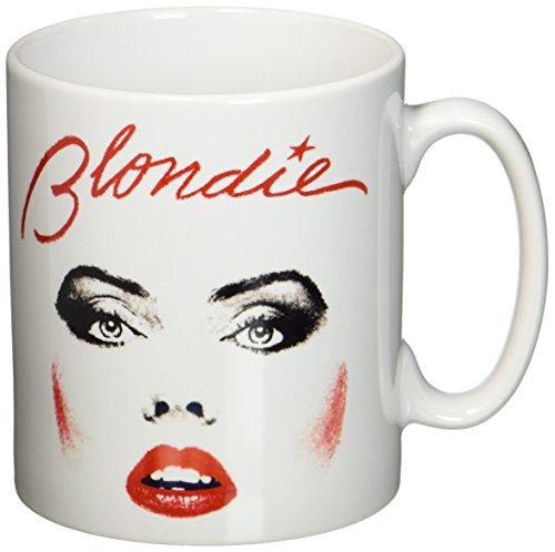 Plastic Head Face Blondie Mug, White