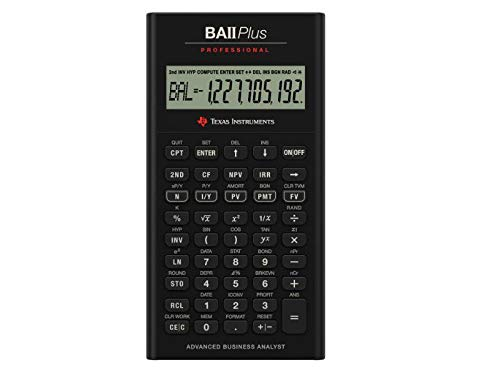 Texas Instruments IIBAPRO/TBL/1L1 BA II Plus Professional Financial Calculator