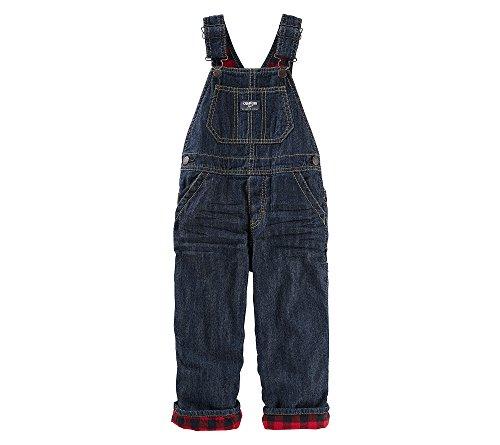 Plaid Boys Overalls (OshKosh B'Gosh Baby Boys'Fleece Lined Buffalo Plaid  Denim Overalls)