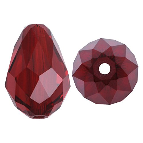 SWAROVSKI ELEMENTS Crystal Drop Beads #5500 9x6mm Siam (4)