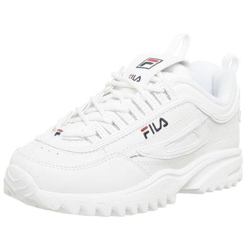 Fila Disruptor II Sneaker(Little Kid),White/Navy/Red,11 M US Little Kid