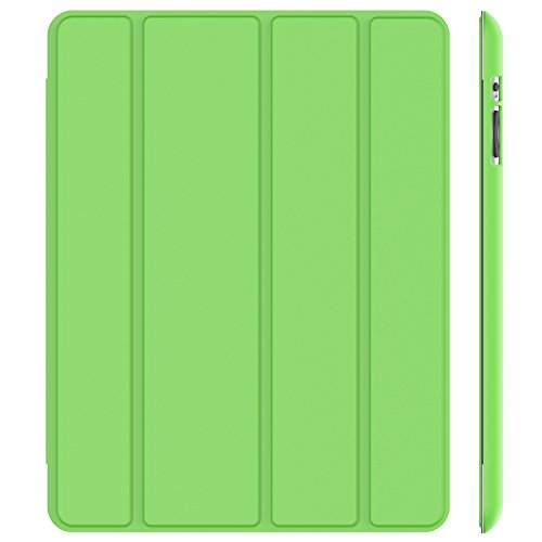 JETech Case for iPad 2 3 4 (Old Model), Smart Cover with Auto Sleep/Wake, - Green Apple Mini Ipad Cover Smart