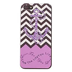 SOL Ripple and Fish Anchor Design PC Hard Case for iPhone 5/5S