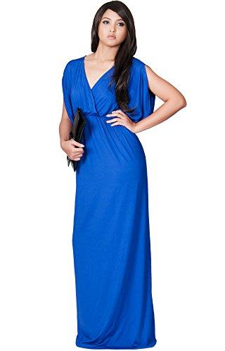 blue grecian dress - 8