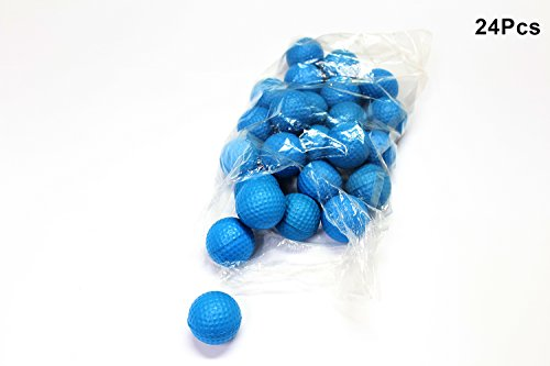 POSMA PB010AUS Golf PU Practice Balls soft balls golf training 24 Count, Blue by POSMA