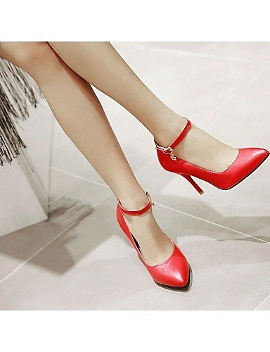 GGX/Damen Schuhe Kunstleder Chunky Heel Heels Heels Büro & Karriere/Kleid/Casual Schwarz/Pink/Rot/Weiß pink-us3.5 / eu33 / uk1.5 / cn32