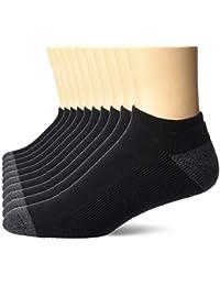 Men's 10-Pack Cotton Half Cushioned No-Show Socks