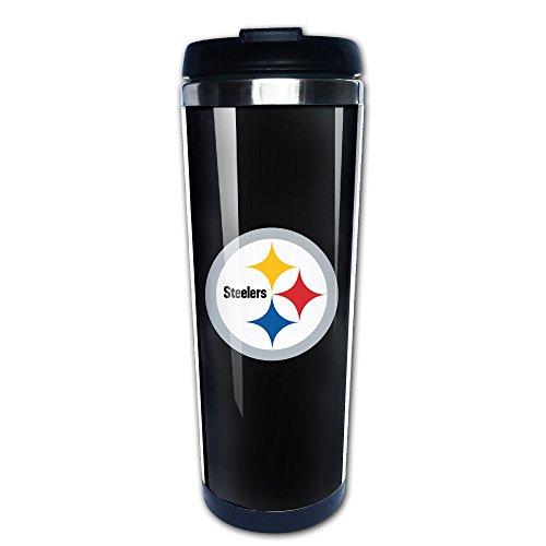 SUNpp Steelers Football Logo Coffee Thermos & Vacuum Flask (Travel With Coffee Messi Mug)
