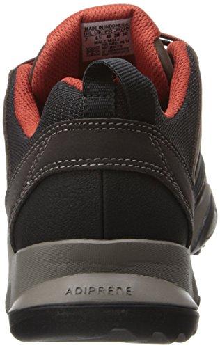 Adidas exterior broza del cuero de zapatos de senderismo, Negro / negro / granito, 7 M US Espresso / Black / Titan Grey