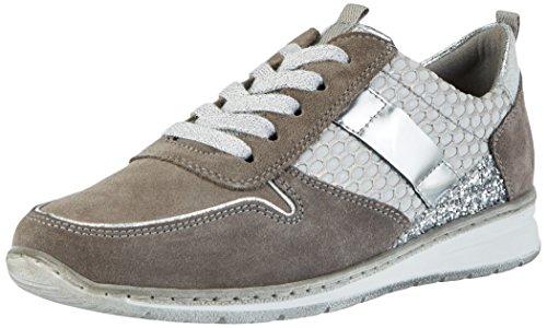 Delle Basso Sneakers Donne top Silber grigio Sapporo Grau Jenny XvwTPpq1W