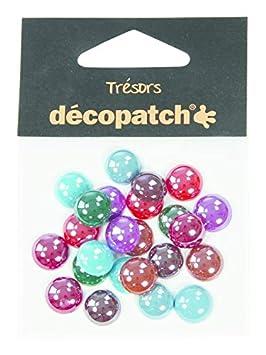 24 Unidades Decopatch Tresors Pearl Gems Pastel