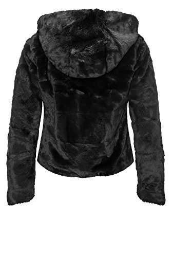 Giacca black Donna Fur Nero Otw Only Jacket Onlchris Cc Black Hooded AHzYwq