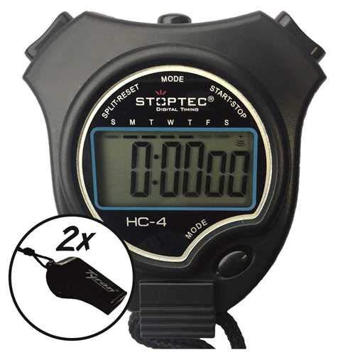 Schütt Stoppuhr Stoptec HC-4 / Stoppuhr mit großem Display/Digitale Stoppuhr mit Uhrmodus, Datum, Alarm, Stundensignal…