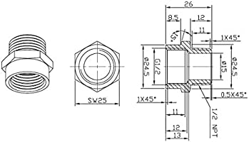 NPT Female Adapters European to American Connectors Brass Fittings BSPT Male