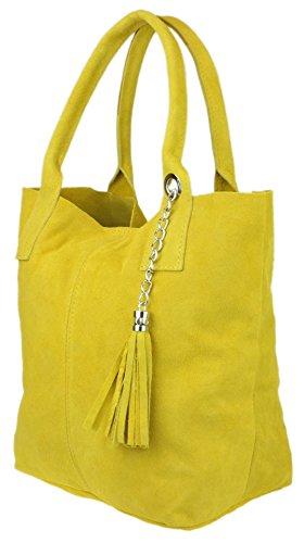 amarillo Material para Girly de hombro Handbags Bolso Sintético al mujer ZwqOZT