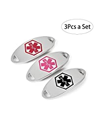 Medical ID Tag - Stainless Steel Medical Alert ID Tags for Custom Bracelets