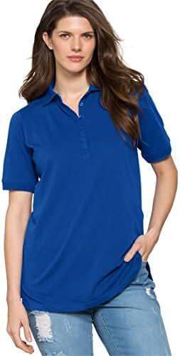Ultimate Tee Women's Plus Size Short Sleeve Polo Ultimate Tee