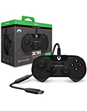 Hyperkin X91 Wired Gaming Controller - Black - for Xbox One and Windows 10 (PC and Tablet) via USB with Retro Design, 3.5mm Headset Jack, and 9 Ft. Cable