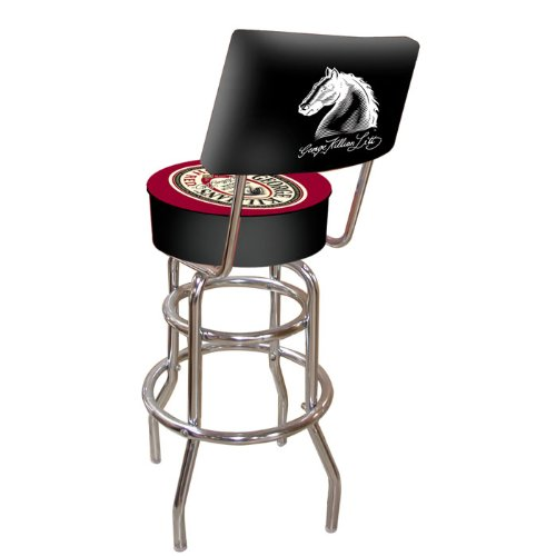 - George Killian's Irish Red Padded Swivel Bar Stool with Back