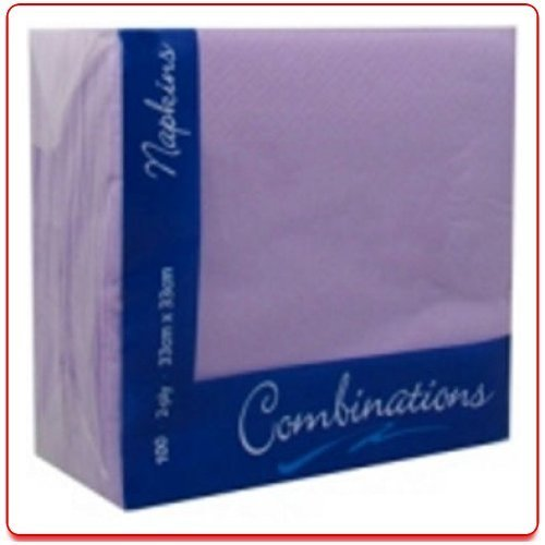 100 Lavender 2Ply Paper Napkins Serviettes Tissues 33cm Party Tableware Catering by JeeJaan by JeeJaan