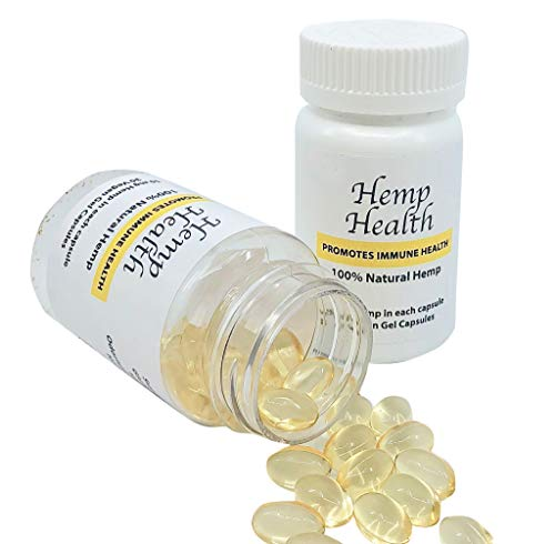 100% Natural Hemp Vegan Soft Gel Capsules with 50mg of Hemp in Each Capsule. 30 Vegan Gel Capsules per Bottle - Hemp is a Superfood, Great in Providing The Needed Vitamins and nutrients to Our Bodies