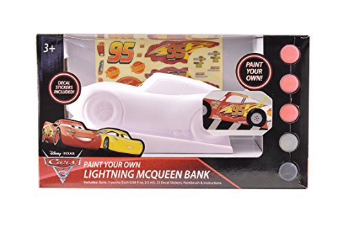 Disney Cars Mcqueen Figural Coin Bank, Unpainted, 10''x6'' by Disney