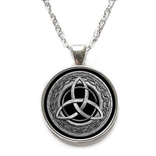 - Ni36uo0qitian0ozaap Trinity Celtics Pendant Necklace Round Glass Necklace Celtics Trinity Pendant,Celtic Knot Pendant,Trinity Pendant,TAP188