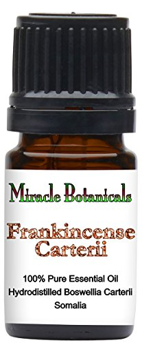 Miracle Botanicals Frankincense Carterii Essential Oil - 100% Pure Boswellia Carterii - Therapeutic Grade - 5ml by Miracle Botanicals