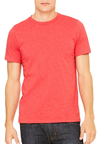 Bella + Canvas Womens Super Soft Athletic Yoke T-Shirt (3001C) -HEATHER RE (Red Super Soft T-shirt)