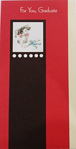 For You Graduate Money / Check Holder Greeting Card - Congratulations and Best Wishes for the - For Graduates Presents College