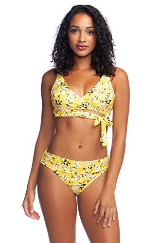 La Blanca Women's Surplice Faux Wrap Bra Bikini Top, Sunshine, 6 - Top Surplice Bikini