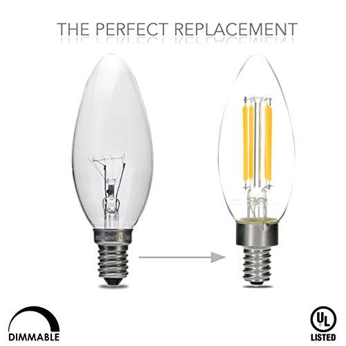 hudson lighting dimmable candelabra led bulbs ul listed 2 year warranty 4 watt 400 lumen. Black Bedroom Furniture Sets. Home Design Ideas