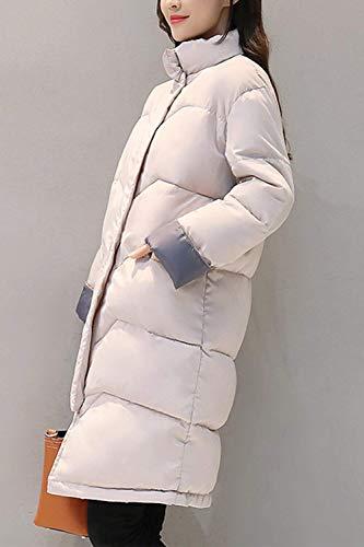 Colores Larga Chaqueta Capucha Adelina Manga Beige Retro Con Sólidos Invierno Elegante Cinturón Abrigos Sintético Mujer Piel Cremallera Cazadoras Parka Outerwear Otoño Forrado zIfInqa