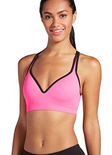 Jockey Women's Molded Cup Seamless Bra, Knockout Pink, XL