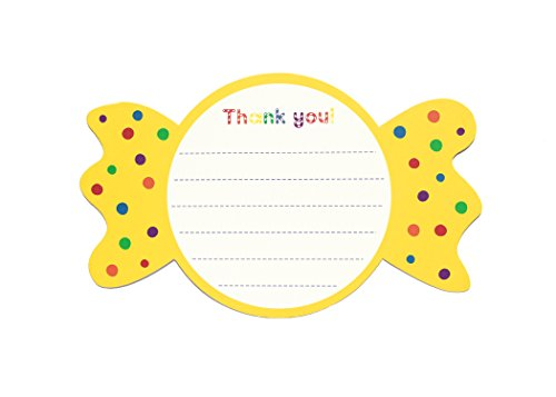Sweet Rainbow- Thank You Note Card Set | Candy Shop, Candy Wrapper, Polka Dots | Thank You Cards | Set of 8 Note Cards ()