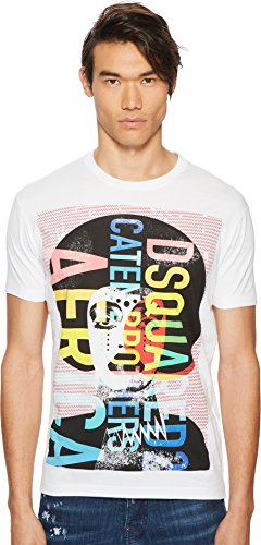 DSQUARED2 Men's Africa Jersey T-Shirt White X-Large (Dsquared2 Clothing Mens)