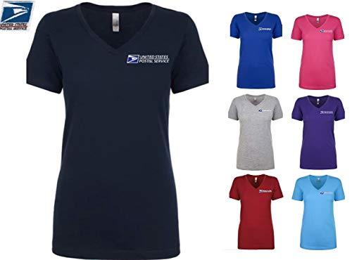 Ladies USPS Postal Post Office 60/40 Fitted Vneck Short Sleeve Tshirt PCA Etc