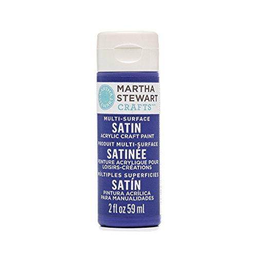 Martha Stewart Multi-Surface Satin Acrylic Paint: Blue Velvet, 2 oz