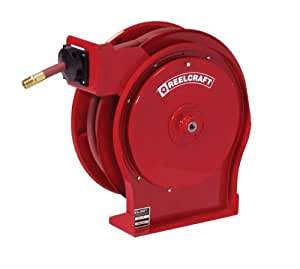 Reelcraft 5650 OLP 3/8-Inch by 50-Feet Spring Driven Hose Reel for Air/Water